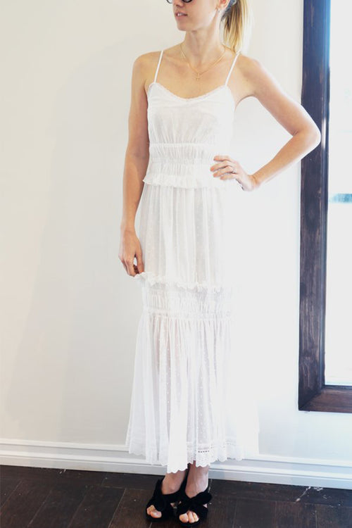 Holy Caftan Tulle White Maxi