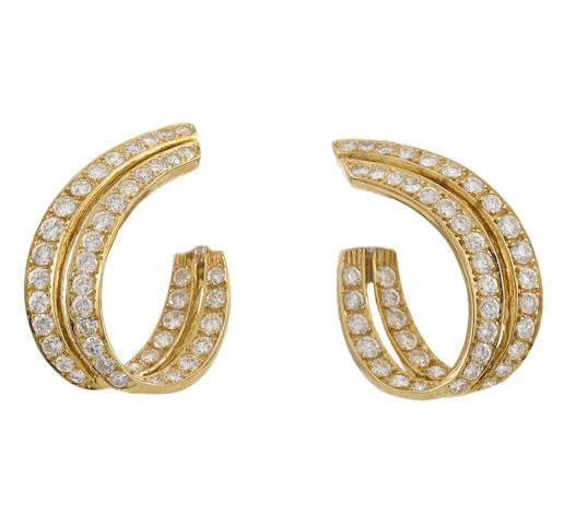 Vintage Diamond Earclips