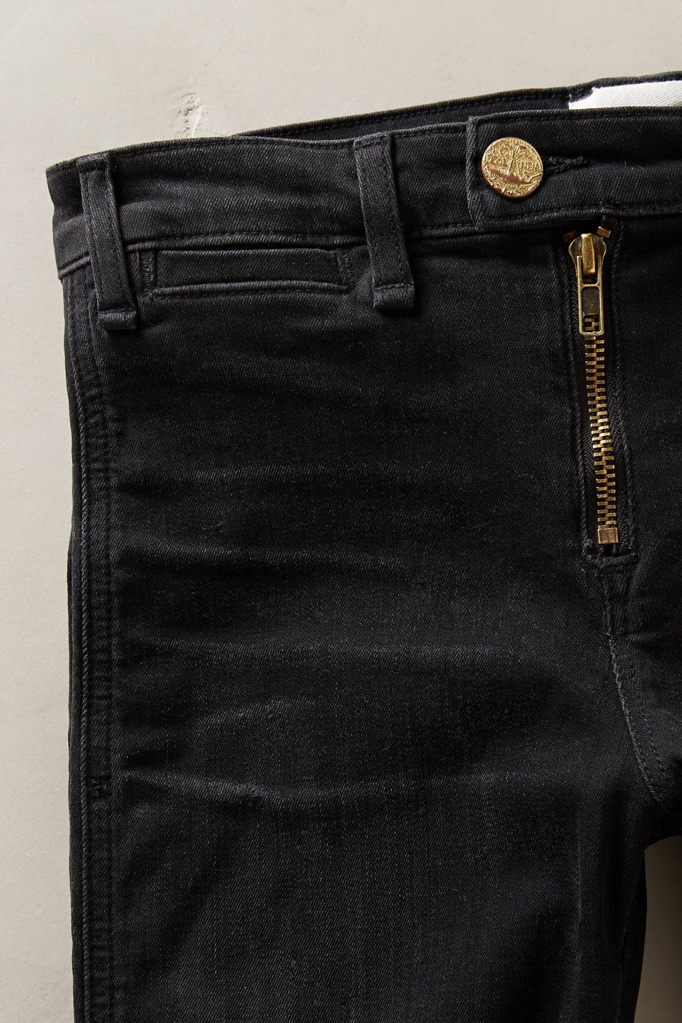 Exposed Zip Gotham Slim Jeans