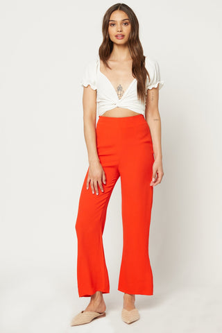 Slouch Pant-Ivory With Black