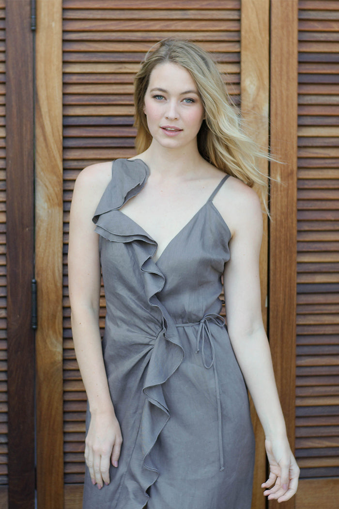 Tamsin Dress-Charcoal