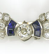 Diamond and Synthetic Sapphire Clip Brooch/Pendent