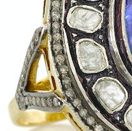 Tanzanite and Diamond Statement Ring