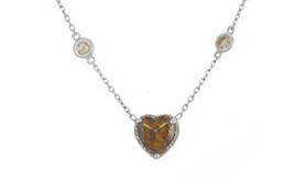 Fancy Brown Heart Diamond Necklace