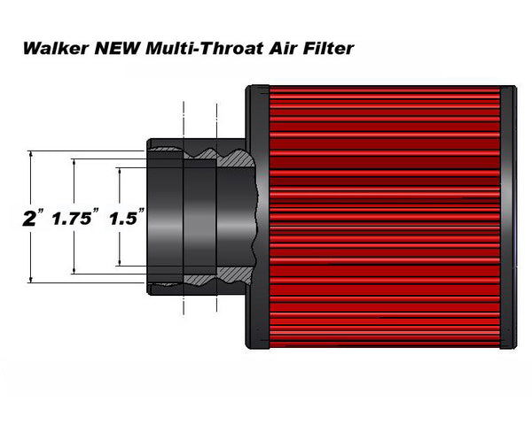 "High Performance ""Adapt-all"" Air Filter (Small Diesel Engines to 75HP)-Part# CD588"