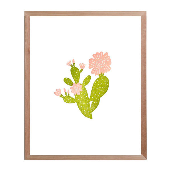 Prickly Pear Cactus Print - Color
