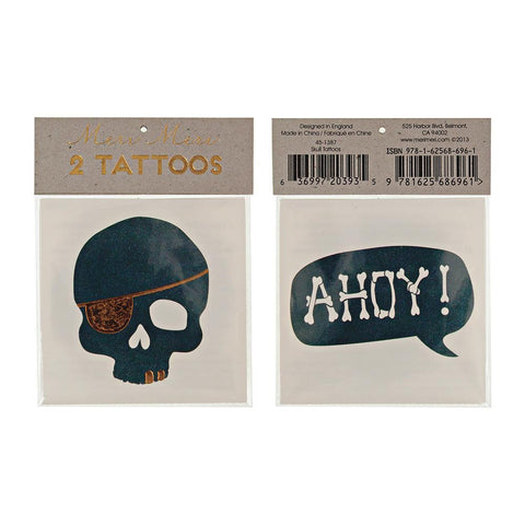 Skull + Ahoy Tattoo Set
