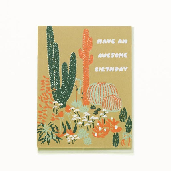 Cacti Awesome Birthday Card