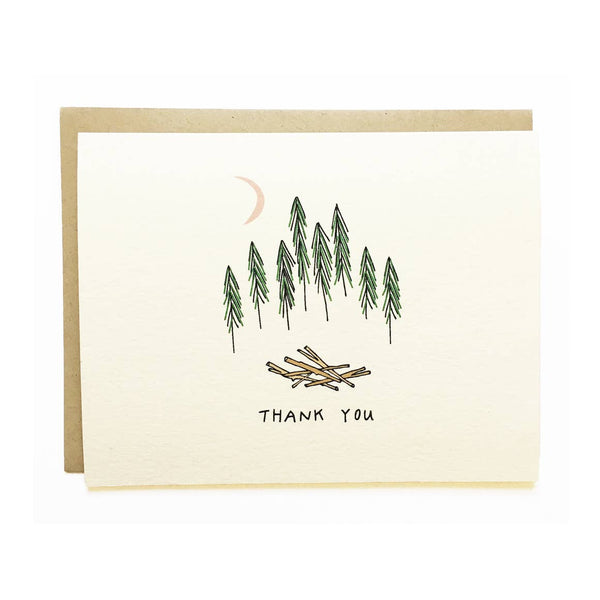 Forest Thanks Card