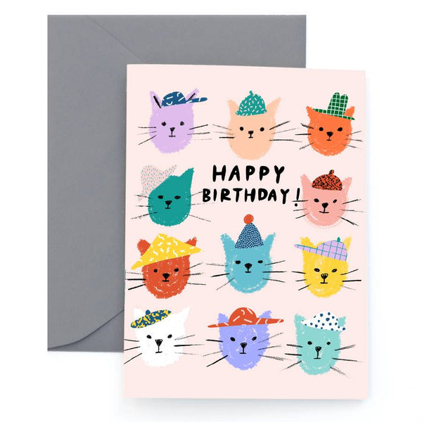 Cat Pals Birthday Card