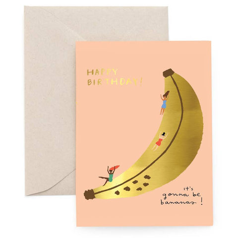 Banana Slide Birthday Card