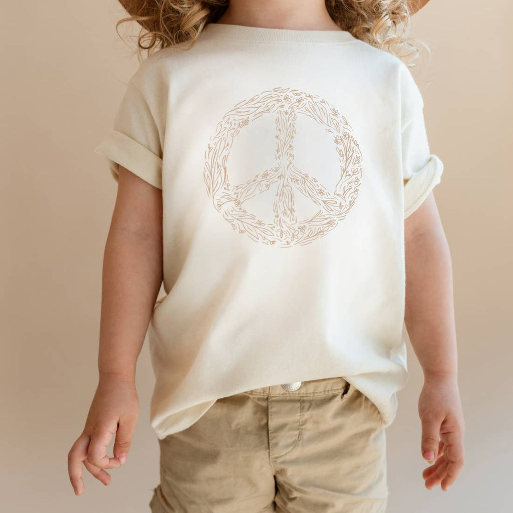 Polished Prints Floral Peace Sign Tee