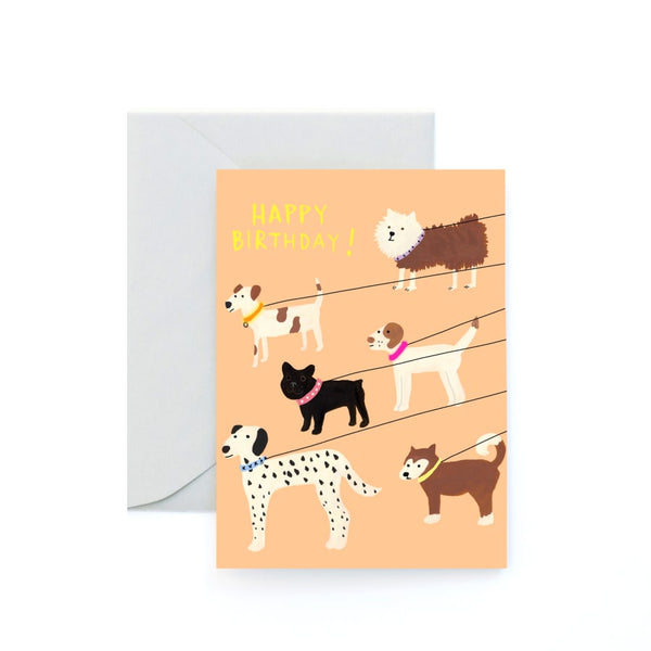 Dog Walk Birthday Card