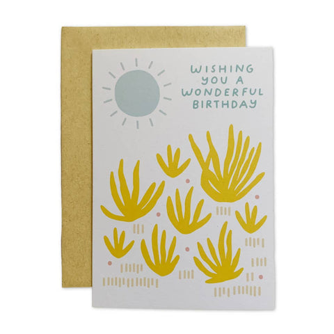 Agave Birthday Card