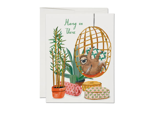 Hang in There Sloth Card