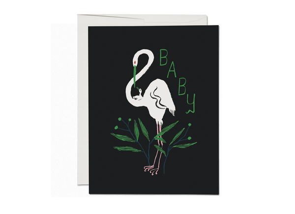 Egrets Baby Card