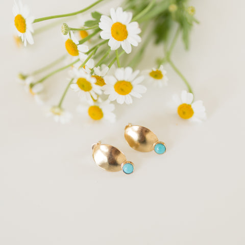 Descent Earrings - Turquoise