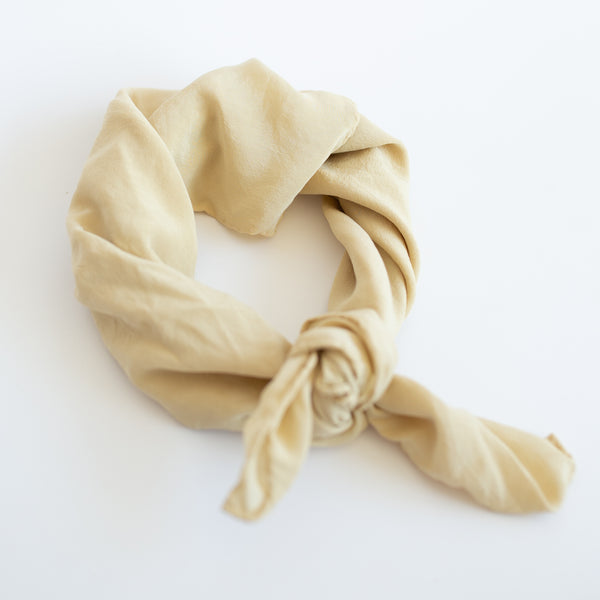 Naturally Dyed Scarf - Lemon