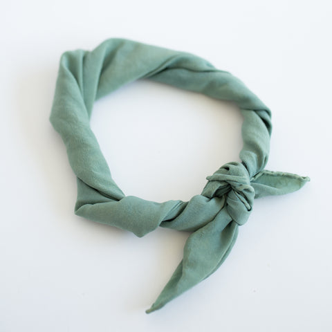 Naturally Dyed Scarf - Mint