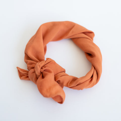 Naturally Dyed Scarf - Terracotta