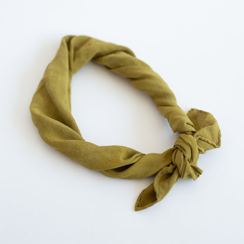 Naturally Dyed Scarf - Ochre