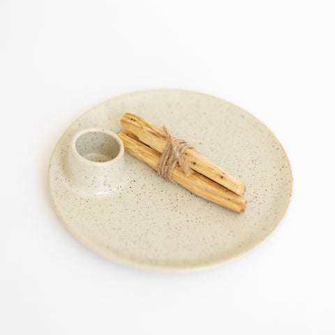 Ceramic Palo Santo Holder - Eggshell