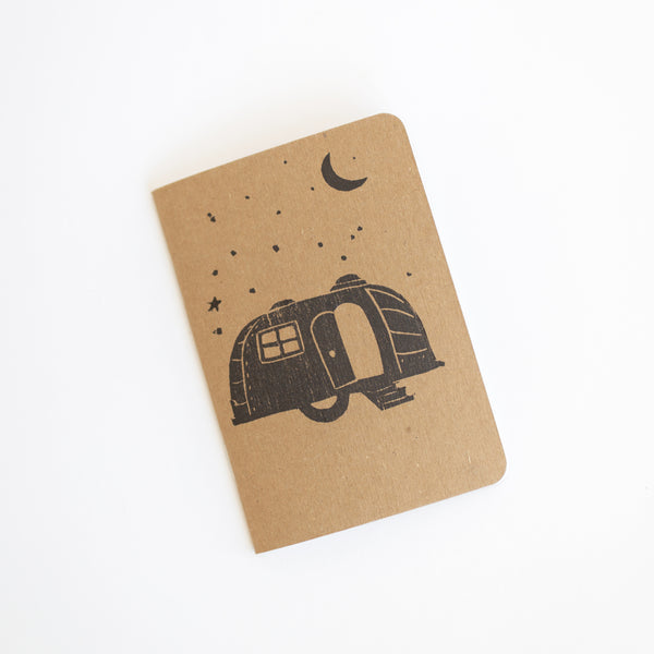 Mobile Home Block Print Notebook