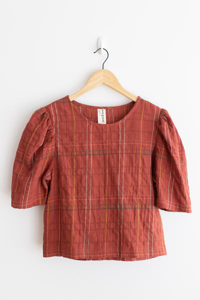 Labyrinthe Top - Rust Plaid