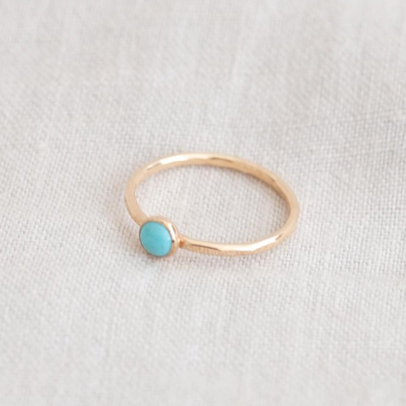 GOLDELUXE JEWELRY 14k Gold Fill Turquoise Stacking Ring
