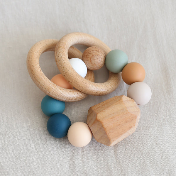 Hayes Silicone + Wood Teether - Summer