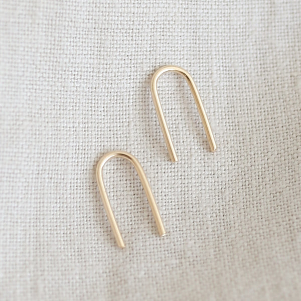 Gold U-Shaped Earrings