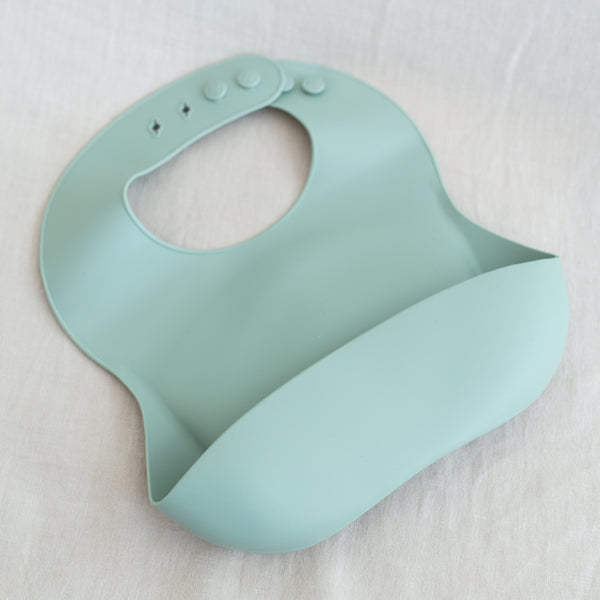 Silicone Baby Bib - Cambridge Blue