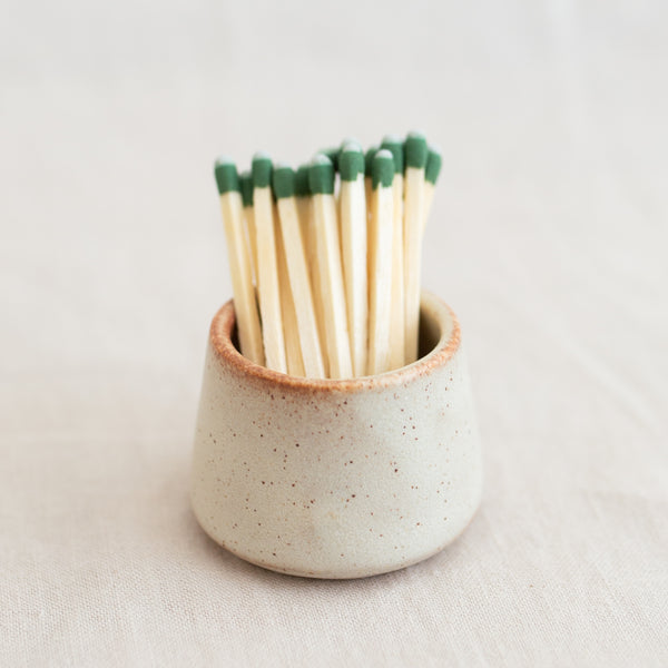 Ceramic Matchstick Holder - Eggshell