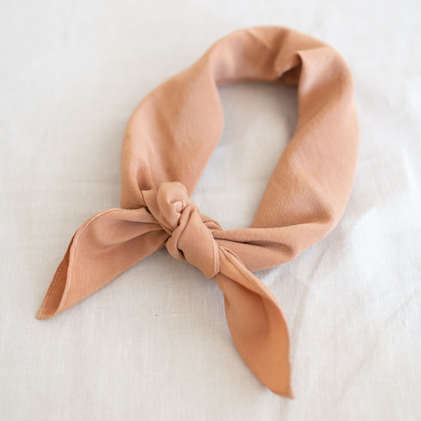 Naturally Dyed Scarf - Clay