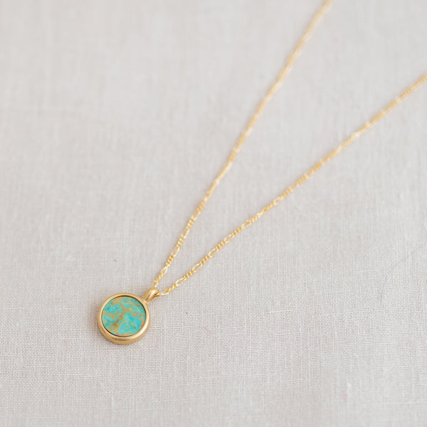 Token Stone Necklace - Turquoise