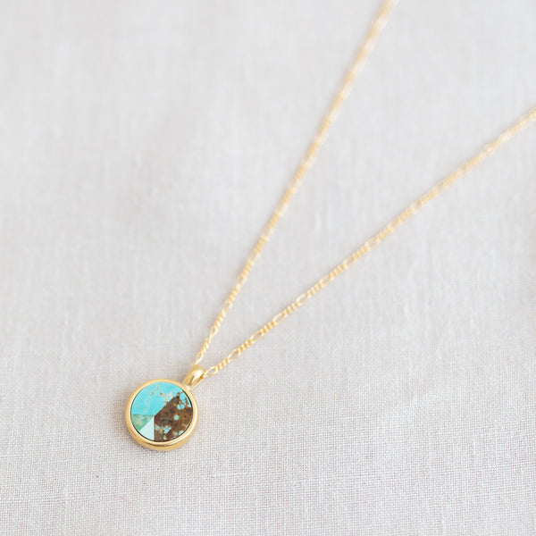Peace Token Necklace - Turquoise and Variscite