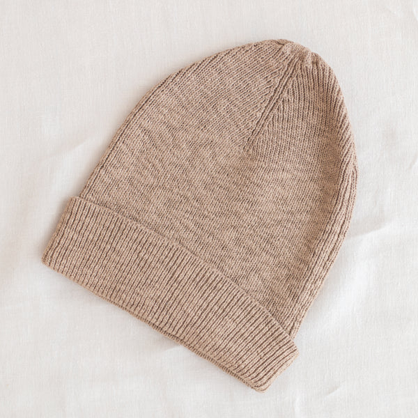 Ribbed Beanie - Toffee