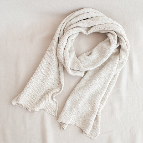 Jersey Tuck Scarf - Natural