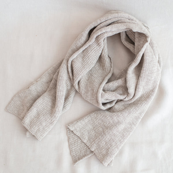 Jersey Tuck Scarf - Flax