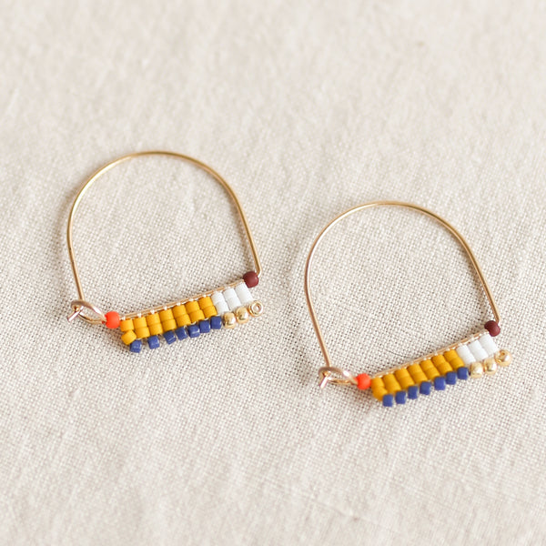 Little Paintbrush Hoops - Saffron