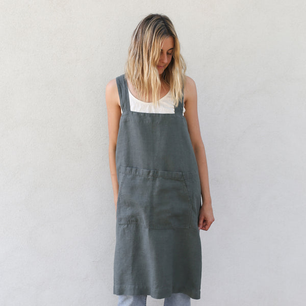 Pinafore Apron - Forest Green