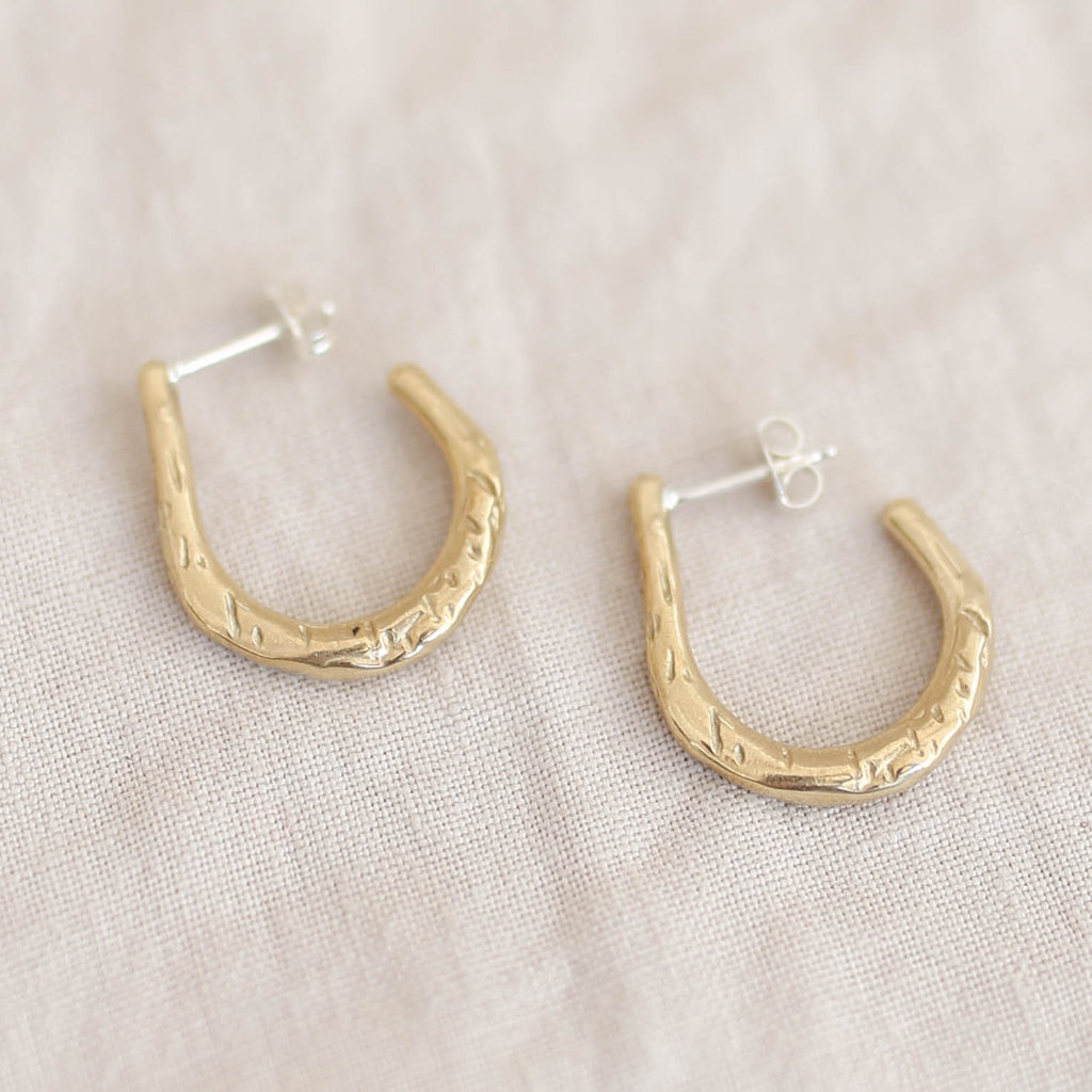Rebekah J Designs Push Earrings - Brass