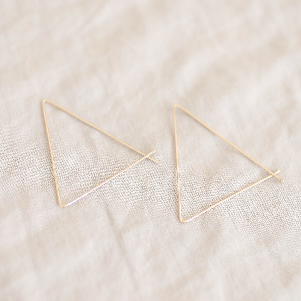 On a Limb Creative Gold Filled Triangle Threader Hoops
