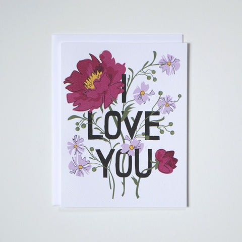 I Love You Bouquet Card