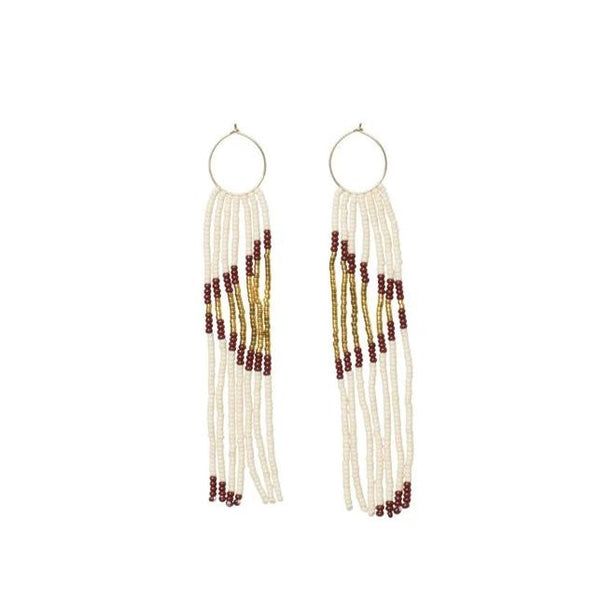 Pembetatu Extra Small Hoop Earrings - Burgundy