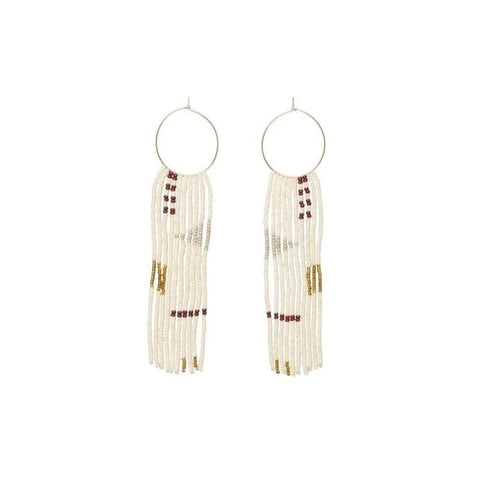 Pembetatu Small Hoop Earrings - Burgundy