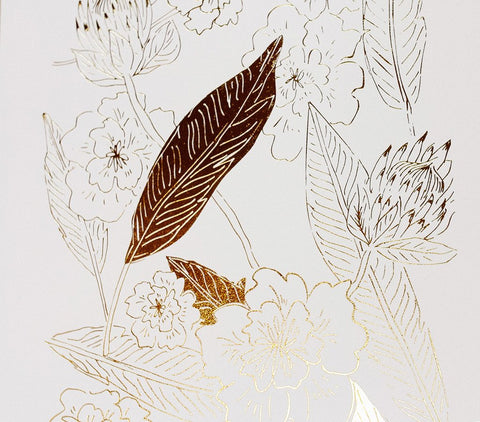 Gold Botanical Art Print