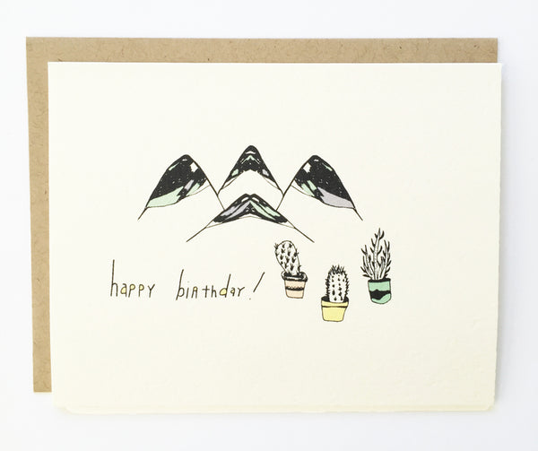 Cactus Mountain Birthday Card