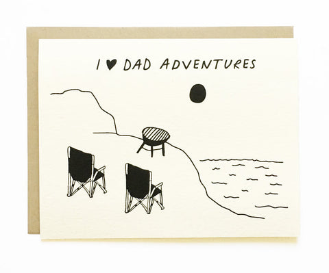 I Love Dad Adventures Card