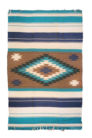 Tierra Blanket - Tan & Teal
